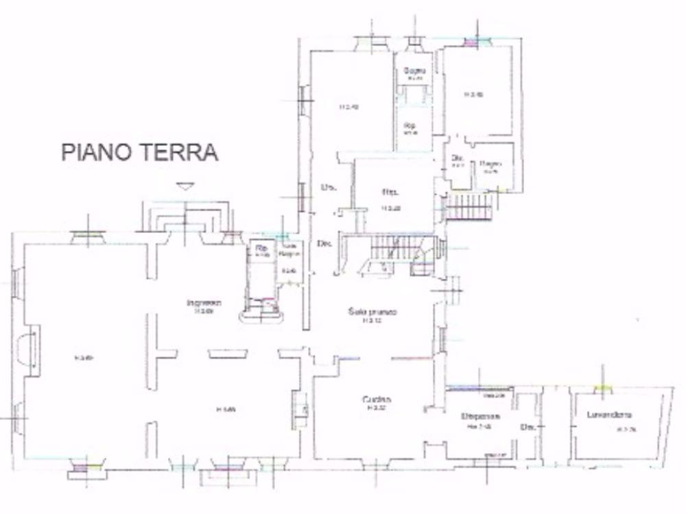 villa panoramica Belvedere - Pianta piano terra